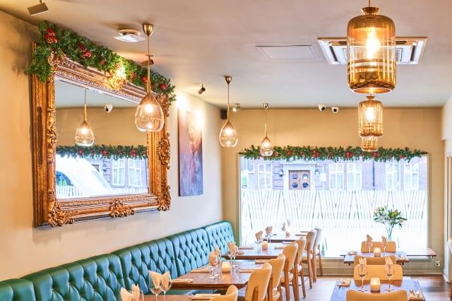 805 Restaurant interior showing new lighting