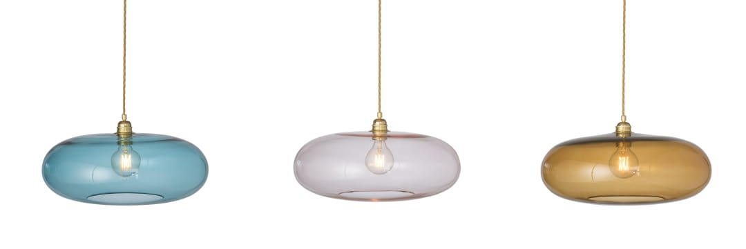 Horizon Ceiling Pendant in 3 of the new glass colours