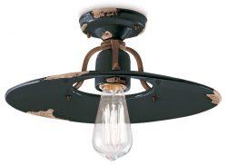 Saturno vintage ceiling flush light in vintage black