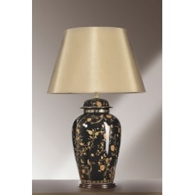 BLACK BIRDS Chinese Porcelein Table Lamp
