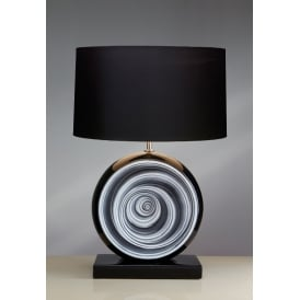 BLACK SWIRL Glazed Ceramic Table Lamp