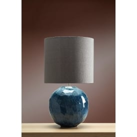 BLUE GLOBE Glazed Ceramic Table Lamp