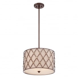 BROWN LATTICE Ceiling Pendant