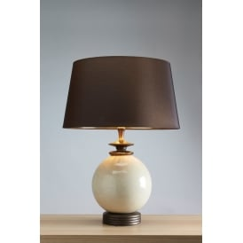 CLARA Glazed Ceramic Orb Table Lamp