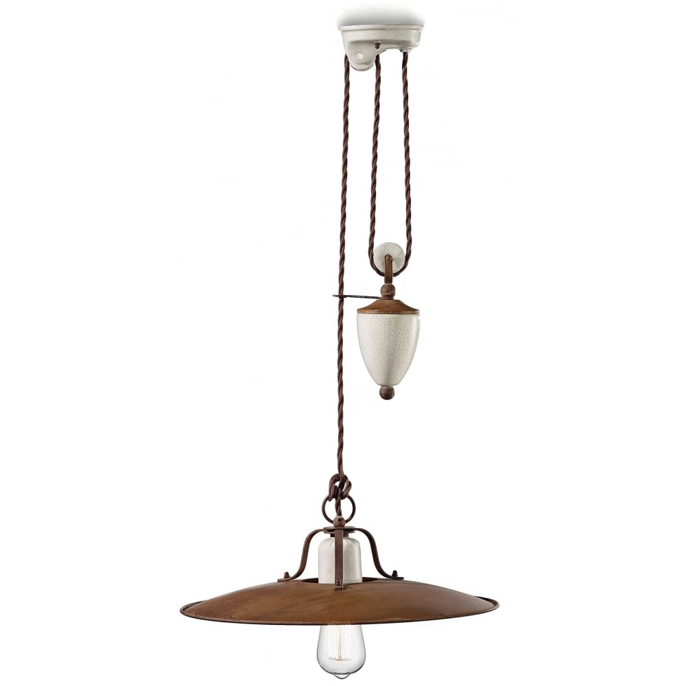 Ferroluce rise fall lamp ceiling lights moonbeam lighting craquele rise fall lamp mozeypictures Image collections