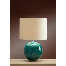 GREEN GLOBE Glazed Ceramic Table Lamp
