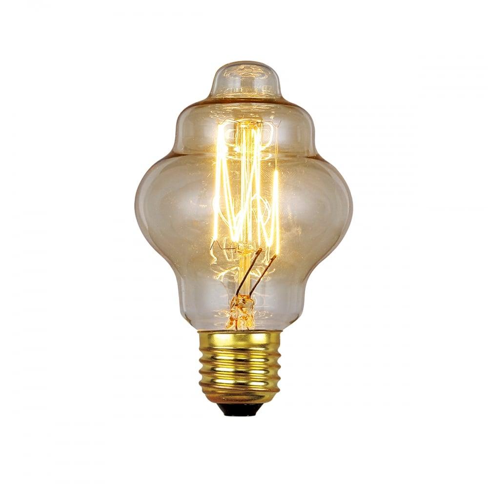 elstead light bulbs 60w e27 retro style lamps moonbeam