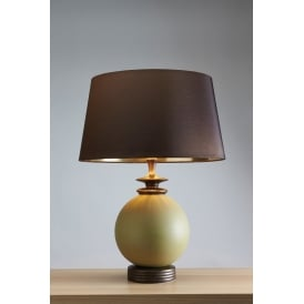 OSIRIS Glazed Ceramic Orb Table Lamp
