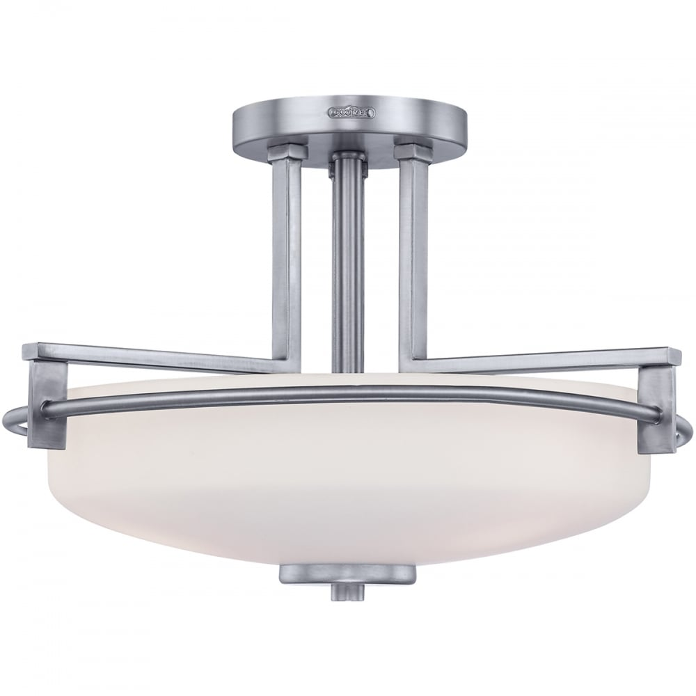 semi flush ceiling lights quoizel semi flush ceiling light moonbeam 29046